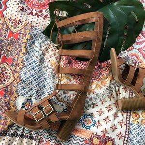 Vegan Lace Up Heels